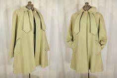 1940s Coat// 40s Jacket// Swing Coat// Chartreuse Green Wool Coat// XL by RockabillyRavenVtg on Etsy