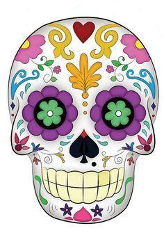 Dia de Los muertos I& not sure why but I am loving sugar skulls Sugar Scull, Sugar Skull Art, Day Of The Dead Party, Day Of The Dead Skull, Mexican Skulls, Mexican Art, Halloween Crafts, Halloween Decorations, Manualidades Halloween