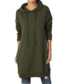 Femmes à Capuche Baggy Sweat Over sized Coupe Ample Haut Femme Robe Taille S-2XL