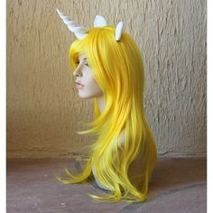 Items similar to Lady Rainicorn costume cosplay wig - unicorn wig /... ❤ liked on Polyvore featuring costumes