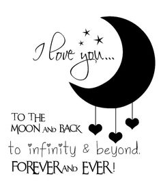 Muursticker I Love you to the Moon...
