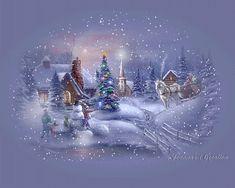Trackerandy - My Desktop Nexus Merry Christmas Gif, Christmas Card Sayings, Christmas Graphics, Blue Christmas, Winter Christmas, Vintage Christmas, Xmas, Holiday, Beautiful Christmas Scenes
