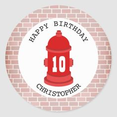 Fire Hydrant + Bricks Birthday Party Sticker  girl firefighter quotes, firefighter logo, wildland firefighter girlfriend #mylittlefirefighter #femalefirefighter #firedept