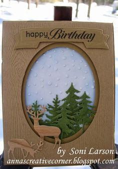 A Peek Inside The Creative Corner: Great Masculine Birthday Card with Little Deer!