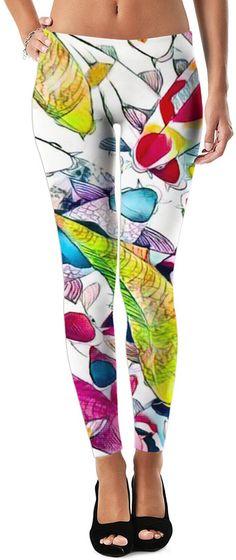 Dream Koi Dubstep Custom Rave Revolution Street Style Leggings by Willy Badu.