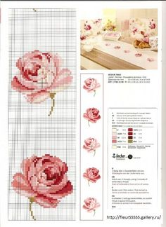 Roses Free Cross Stitch Patterns