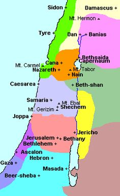 map of Israel - time of Jesus