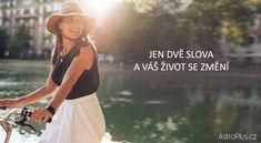 Jen dvě slova a váš život se změní | AstroPlus.cz Jena, Karma, Ballet Skirt, Health, Life, Mantra, Gardening, Tutu, Health Care