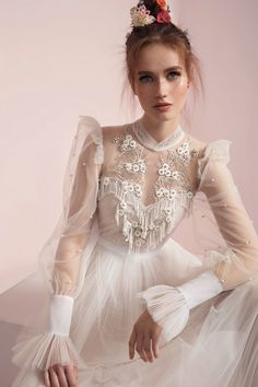 lior charchy spring 2017 bridal long sleeves illusion high neck sweetheart neck heavily embellished bodice layered skirt retro bohemian a line wedding dress zv -- Lior Charchy Spring 2017 Wedding Dresses Fashion Lior Charchy Spring 2017 Wedding Dresses Dress Vestidos, Women's Dresses, Pretty Dresses, Bridal Dresses, Beautiful Dresses, Evening Dresses, Dresses 2016, Long Dresses, Bridesmaid Dresses