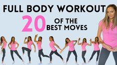 FULL BODY WORKOUT - 20 CALORIE BURNING MOVES | TONES ABS, ARMS, THIGHS &... Full Body Workout At Home, Fitness Workout For Women, Body Fitness, At Home Workouts, Fitness Tips, Lucy Wyndham, Short Workouts, Walking Exercise, Toned Abs