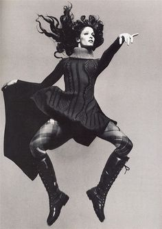 Stephanie Seymour by Richard Avedon for Vogue Italia July 1993, jumping boots by verylegalmuffin, via Flickr