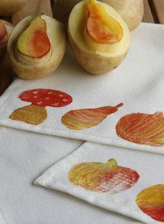 Herbstlicher Kartoffeldruck