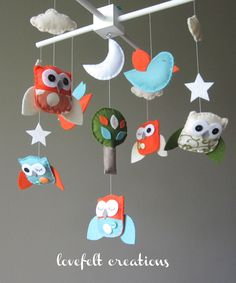 Owl Baby Mobile - Mobile Owls - Nursery Mobile.