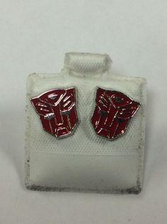 Silver Transformers Earrings