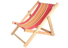 Striped folded beach chair from Egmont Toys