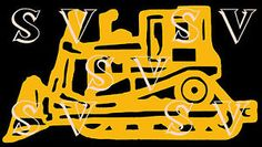 BullDozer Crawler  Caterpiller Like Cat Dozer High Track  Like a CAT D8   Truck or Car Window Decal  Exterior Gloss Vinyl If you would like it in another color or size please contact me.  If you are looking for a special decal, just contact me and I can post one for you.