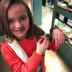 This little girl was scared at first but once she saw how gentle the snake was she relaxed and was having a great time. Reptiles, Snake, Little Girls, Kids, Young Children, Toddler Girls, Boys, A Snake, Children