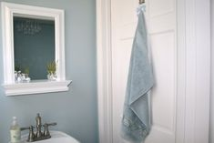 Color Paint Bathroom on Benjamin Moore Smoke Gray Blue Bathroom Paint Color Benjamin Moore Smoke, Blue Gray Paint Colors, Paint Colors For Home, Paint Colours, Ralph Lauren Paint Colors, Blue Bathroom Paint, Paint Brands, Kids House, Decoration