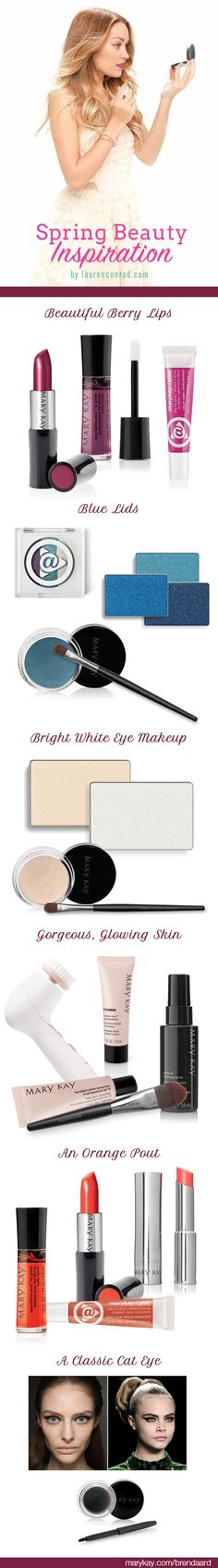Spring Trends from LC and how to get them with Mary Kay cosmetics and skin care items. www.marykay.com/brendatheobald