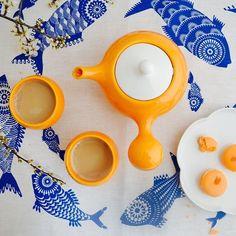 Chai it, you'll like it! #chai #lifestyleceramics #teatime #simplepleasures #orangebulb #etsyseller #differencemakesus #etsysuccess #design