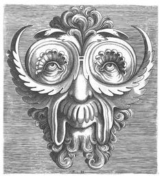 Masks designed by Cornelis Floris and engraved by Frans Huys, in 1555.