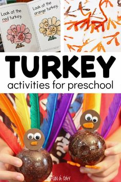 Thanksgiving activities for preschool that are turkey-themed! Tons of hands-on learning activities and crafts for kids. Thanksgiving Preschool, Thanksgiving Turkey, Early Learning Activities, Preschool Activities, Enchanted Learning, Turkey Craft, Preschool Lesson Plans, Holiday Crafts, Christmas Bulbs