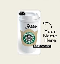 So cool! Iphone case  5 / 4 / 4s - Starbucks Personalized. €13.00, via Etsy.