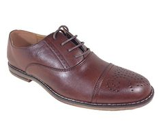 Men's Genuine Leather Insole Cap Toe Lace Up Dress Shoes * You can get additional details at http://www.lizloveshoes.com/store/2016/06/05/mens-genuine-leather-insole-cap-toe-lace-up-dress-shoes/?de=300616060430