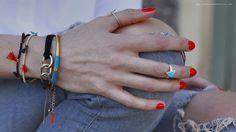 Bracelets et bagues - vernis rouge - été - 2/3 - Lauraleen Lifestyle