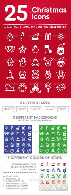 25 Christmas Icons — Photoshop PSD #teddy bea #snowflake • Available here → https://graphicriver.net/item/25-christmas-icons/3584957?ref=pxcr