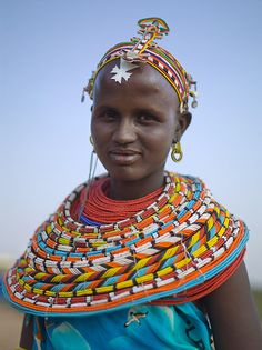 Africa | Samburu woman, Samburu village, Westgate Community Conservancy, Kenya | © Chris Jordan