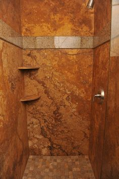 """Forza Stone Shower from 3/16/11 blog, """"Solid Stone Showers Minimize Grout"""""""