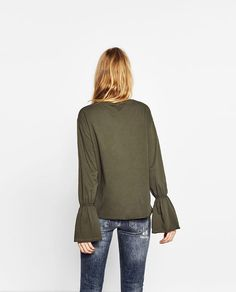 Image 5 of BELL SLEEVE TOP from Zara