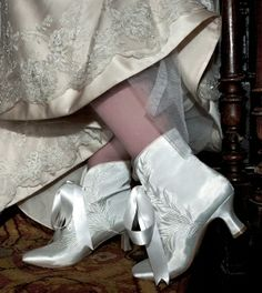 A preferred supplier of Everything But The Bride - Satin Ivory Audry Wedding Boots by Perfect