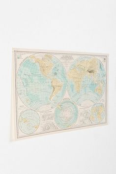 I'd totally use this map and make another pallet map sign for my master bedroom!