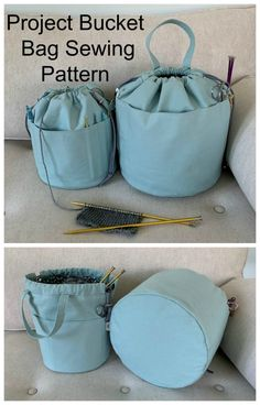 Sewing pattern for a project bucket bag Easy to sew project bag pattern for a knitting crochet or craft bag to sew Project organizer bag sewing pattern Knitting bag sewin. Bag Sewing Pattern, Bag Pattern Free, Easy Sewing Patterns, Bag Patterns To Sew, Sew Pattern, Pattern Ideas, Dress Patterns, Crochet Pattern, Simple Bags