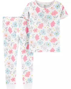 2-Piece Certified Organic Snug Fit Cotton PJs | carters.com