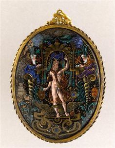 Oval medallion: Jupiter Jean Court (late 16th century) Ecouen National Renaissance Museum