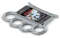 So you never have to take your knuckles off... iPhone ring brass knuckles