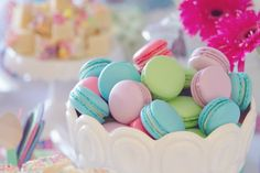 My Little Pony Party for Girls | Pastel Macarons Amy Atlas