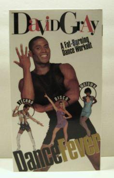 DAVID GRAY DANCE FEVER A FAT BURNING DANCE WORKOUT VIDEO VHS