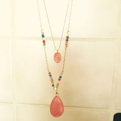 """SALE!!!!!Boho Chic Stone Long Necklace Get your boho on with this beautiful stone necklace. It's about 30"""" long                                                             Mint Condition w/ Tags                                                         Open to offers Boutique Jewelry Necklaces"""