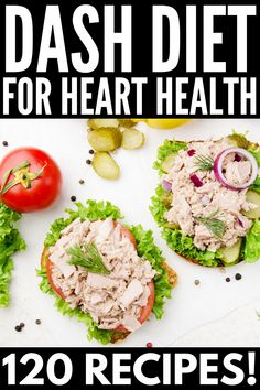 These high blood pressure diet recipes will help you create customized meal plans to reduce your risk for hypertension and lower your cholesterol! Dash Eating Plan, Dash Diet Meal Plan, Dash Diet Recipes, Diet Meal Plans, Eating Plans, Snack Recipes, Dinner Recipes, Snacks Ideas, Heart Healthy Diet