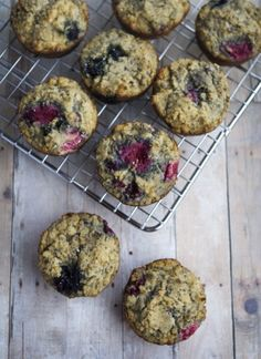 Coconut Flour Berry Chia Muffins from Gluten Free If You Please Gluten Free Blueberry, Gluten Free Muffins, Gluten Free Recipes, Whole Food Recipes, Diet Recipes, Cooking Recipes, Muffin Recipes, Protein Recipes, Healthy Recipes