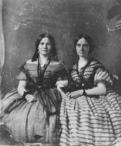 1860 Minnesota Historical Society. Love the dresses and especially the shawl, which I know have a particular name and when it comes to me I'll correct it unless one of you do.