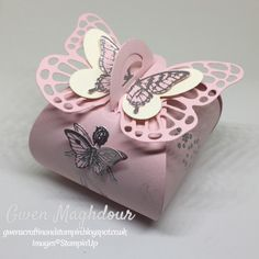 gwenscraftinandstampin Curvy keepsake box with fairies and butterflies