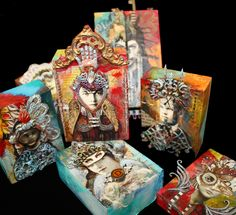 Love these Exquisite Enigmas by Andrea Matus.  She is teaching it at Art Unraveled