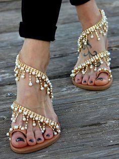 5e1bb4ae332791 Pretty Handmade Beach Flat Sandals