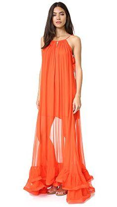cebcd52e49bc Amazon.com: Alexis Women's Gracie Gown, Red/Orange, X-Small: Clothing