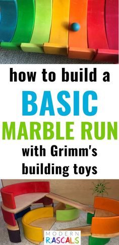 Marble runs are so much fun! There are so many different ways you can set them up!  Here are some great marble run ideas using four Grimm's Rainbow sets. These colorful organic wooden toys are beautiful and fun. Sure to be a hit with kids and parents too! Video Included! . #toys #woodtoys #woodentoys #kidstoys #toddlertoys #ecofriendly #sustainable #nontoxic Toddler Toys, Kids Toys, Grimm's Toys, Space Activities For Kids, Marble Runs, Kindness Activities, Eco Friendly Toys, Unique Toys, Montessori Toys